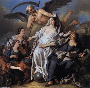 Jean François De Troy - An Allegory of Time Unveiling Truth