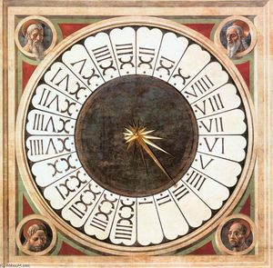 Paolo Uccello - Clock with Heads of Prophets