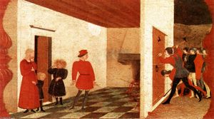 Order Museum Quality Copies | Miracle of the Desecrated Host (Scene 2), 1465 by Paolo Uccello (1397-1475, Italy) | WahooArt.com