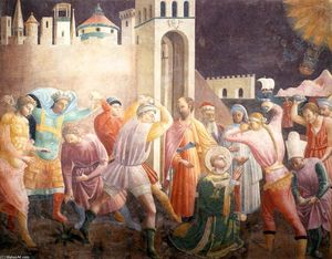 Paolo Uccello - Stoning of St Stephen