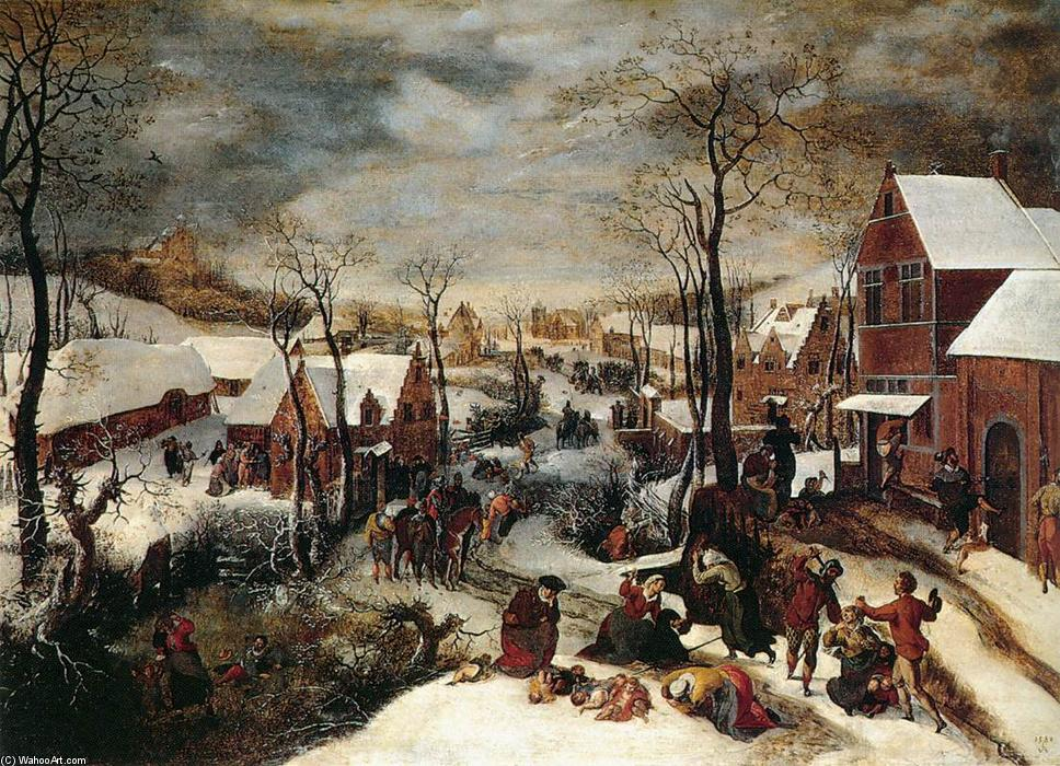 The Massacre of the Innocents, 1586 by Lucas Van Valkenborch (1535-1597, Belgium) | Reproductions Lucas Van Valkenborch | WahooArt.com