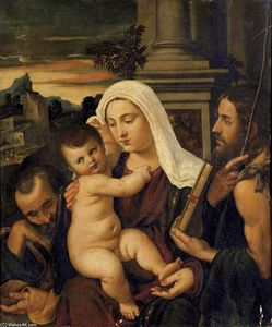 Francesco Vecellio - Madonna and Child with Sts Joseph and John the Baptist