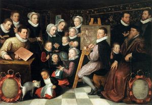 Otto Van Veen - The Artist Painting, Surrounded by his Family