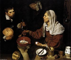 Diego Velazquez - Old Woman Frying Eggs