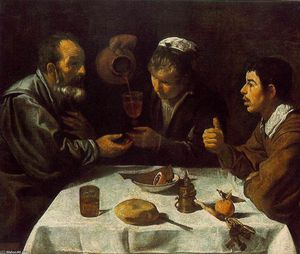Diego Velazquez - Peasants at the Table (El Almuerzo)