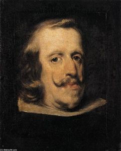 Diego Velazquez - Portrait of Philip IV (fragment)