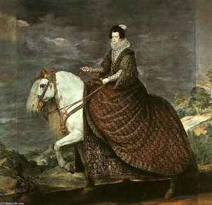 Diego Velazquez - Queen Isabel of Bourbon Equestrian