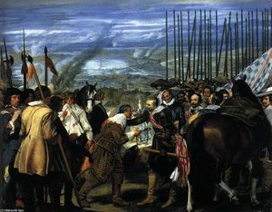 Diego Velazquez - The Surrender of Breda (Las Lanzas) - (oil painting reproductions)