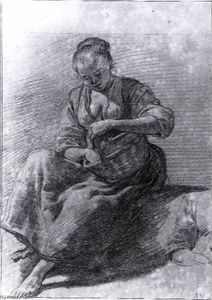Adriaen Van De Velde - Seated Woman