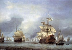 Willem Van De Velde The Elder - The Taking of the English Flagship the Royal Prince