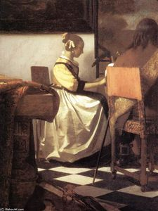 Jan Vermeer - The Concert (detail)
