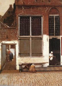 Jan Vermeer - The Little Street (detail)