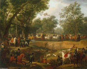 Antoine Charles Horace Vernet Aka Carle Vernet - Napoleon on a Hunt in the Forest of Compiègne