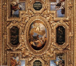 Paolo Veronese - Ceiling decoration (detail) (10)