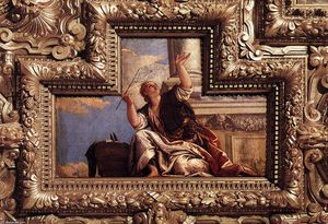 Paolo Veronese - Ceiling decoration (detail) (11)
