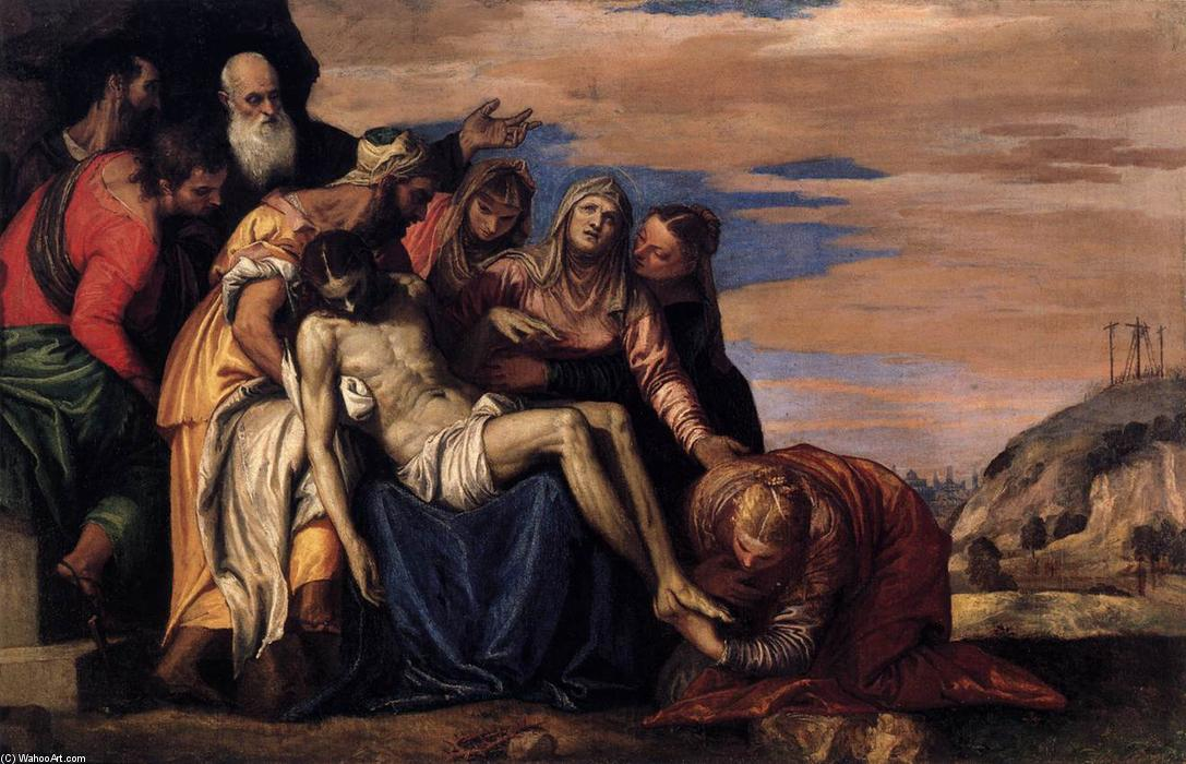 Order Museum Quality Copies | Lamentation over the Dead Christ, 1547 by Paolo Veronese (1528-1588, Italy) | WahooArt.com