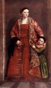 Paolo Veronese - Livia da Porto Thiene and her Daughter Porzia