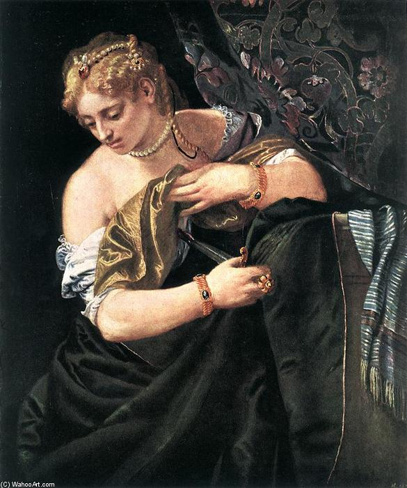 Lucretia, 1580 by Paolo Veronese (1528-1588, Italy) | Museum Quality Reproductions | WahooArt.com