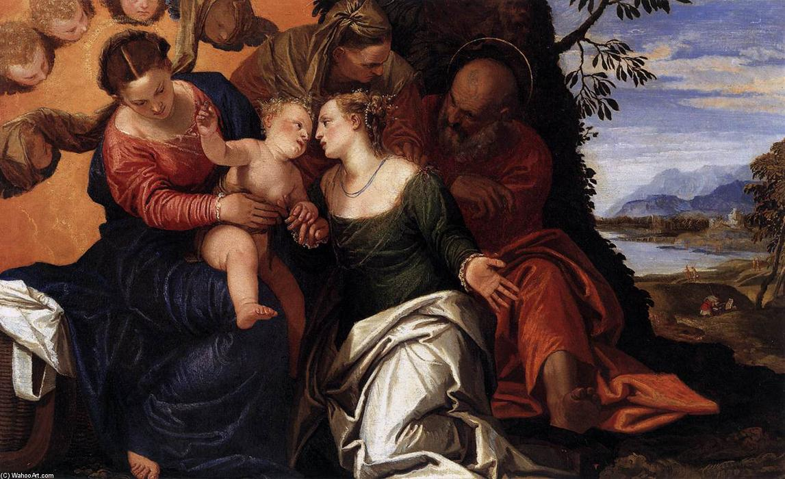 Order Paintings Reproductions | Mystic Marriage of St Catherine, 1547 by Paolo Veronese (1528-1588, Italy) | WahooArt.com