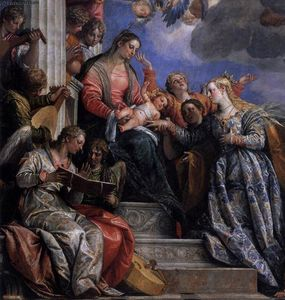 Paolo Veronese - Mystical Marriage of St Catherine (detail)