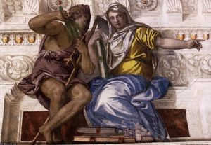Paolo Veronese - Saturn (Time) and Historia
