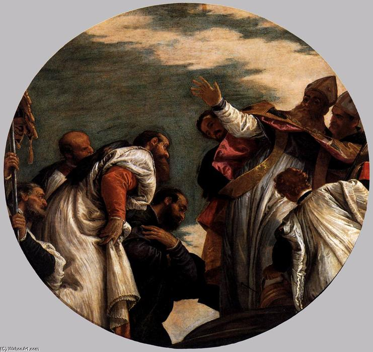 St Nicholas Named Bishop of Myra, 1580 by Paolo Veronese (1528-1588, Italy) | Oil Painting | WahooArt.com