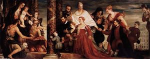 Paolo Veronese - The Adoration of the Virgin by the Coccina Family