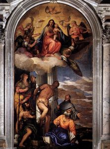 Paolo Veronese - Virgin and Child Enthroned with Saints