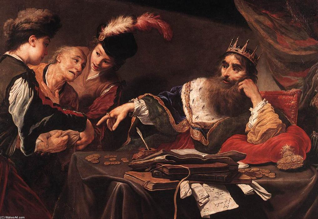 Croesus Receiving Tribute from a Lydian Peasant, 1629 by Claude Vignon (1593-1670, France) | Museum Quality Reproductions | WahooArt.com