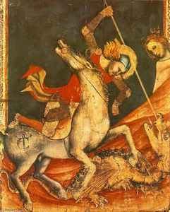 Vitale Da Bologna - St George -s Battle with the Dragon