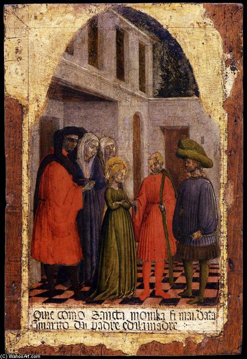 Marriage of St Monica, 1441 by Antonio Vivarini (1440-1480, Italy) | Museum Quality Reproductions | WahooArt.com