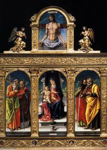 Bartolomeo Vivarini - Virgin Enthroned with Child and Saints