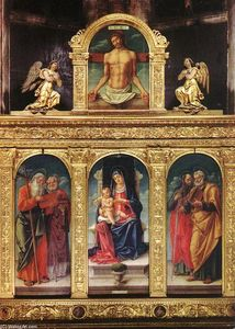 Bartolomeo Vivarini - Virgin Enthroned with the Child on her Knee (polyptych)