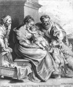 Lucas Vorsterman - Holy Family with St John and St Elizabeth