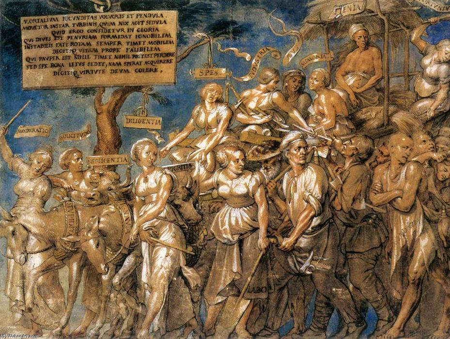 Triumph of Poverty by Lucas Vorsterman (1624-1666, Netherlands) | Reproductions Lucas Vorsterman | WahooArt.com