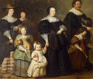 Cornelis De Vos - Self-Portrait of the Artist with his Wife Suzanne Cock and their Children