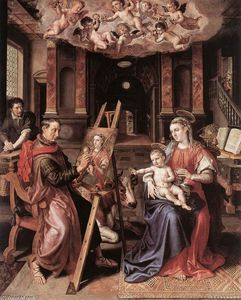 Maarten De Vos - St Luke Painting the Virgin Mary
