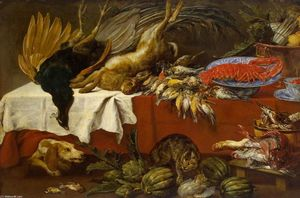 Paul De Vos - Still-Life with Dead Game and Lobster