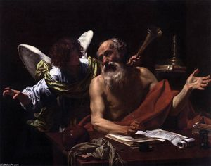 Simon Vouet - St Jerome and the Angel