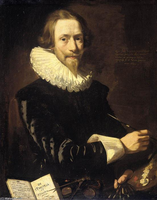 Self-Portrait, Oil On Canvas by Abraham De Vries (1590-1662, Netherlands)