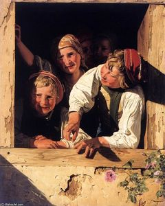 Ferdinand Georg Waldmuller - Children at the Window