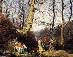Ferdinand Georg Waldmuller - Early Spring in the Wienerwald