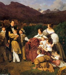 Ferdinand Georg Waldmuller - The Eltz Family