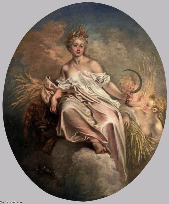 Ceres (Summer), Oil On Canvas by Jean Antoine Watteau (1684-1721, France)