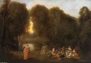 Jean Antoine Watteau - Gathering in the Park