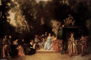 Jean Antoine Watteau - Party in the Open Air