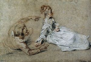 Jean Antoine Watteau - Sitting Couple