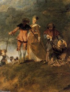Jean Antoine Watteau - The Embarkation for Cythera (detail)