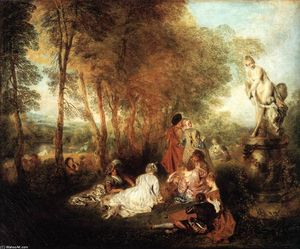 Jean Antoine Watteau - The Festival of Love