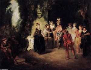 Jean Antoine Watteau - The French Comedy